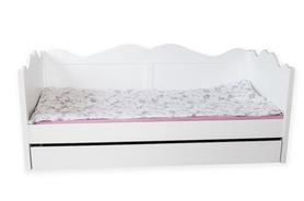 Łóżko drewniane Kaya z szufladą