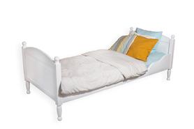Łóżko pojedyncze z kulkami