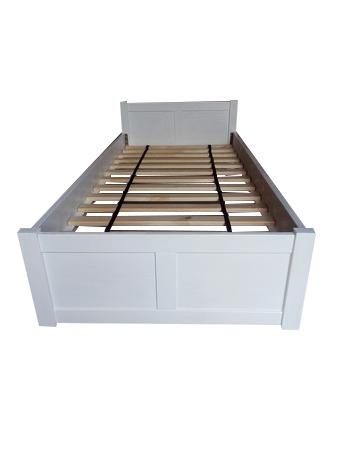 Łóżko drewniane Manty pojedyncze pełne , (1) -