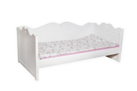 Łóżko drewniane Kaya z szufladą, (2) -