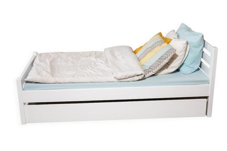 Łóżko drewniane Furu, (1) -