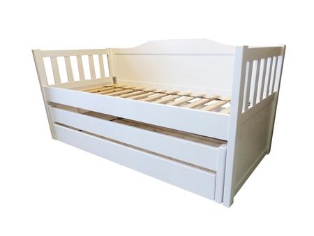 Łóżko Furu piętrowe niskie, (1) -