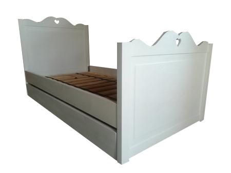 Łóżko drewniane Serduszko z szufladą, (1) -