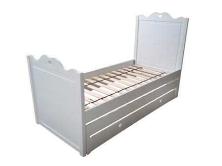 Łóżko Serduszko piętrowe niskie , (1) -