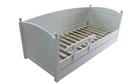 Łóżko drewniane Manty z kulkami, (1) -