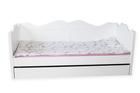 Łóżko drewniane Kaya z szufladą, (1) -